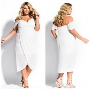 NWT City Chic Entwine White Maxi Dress